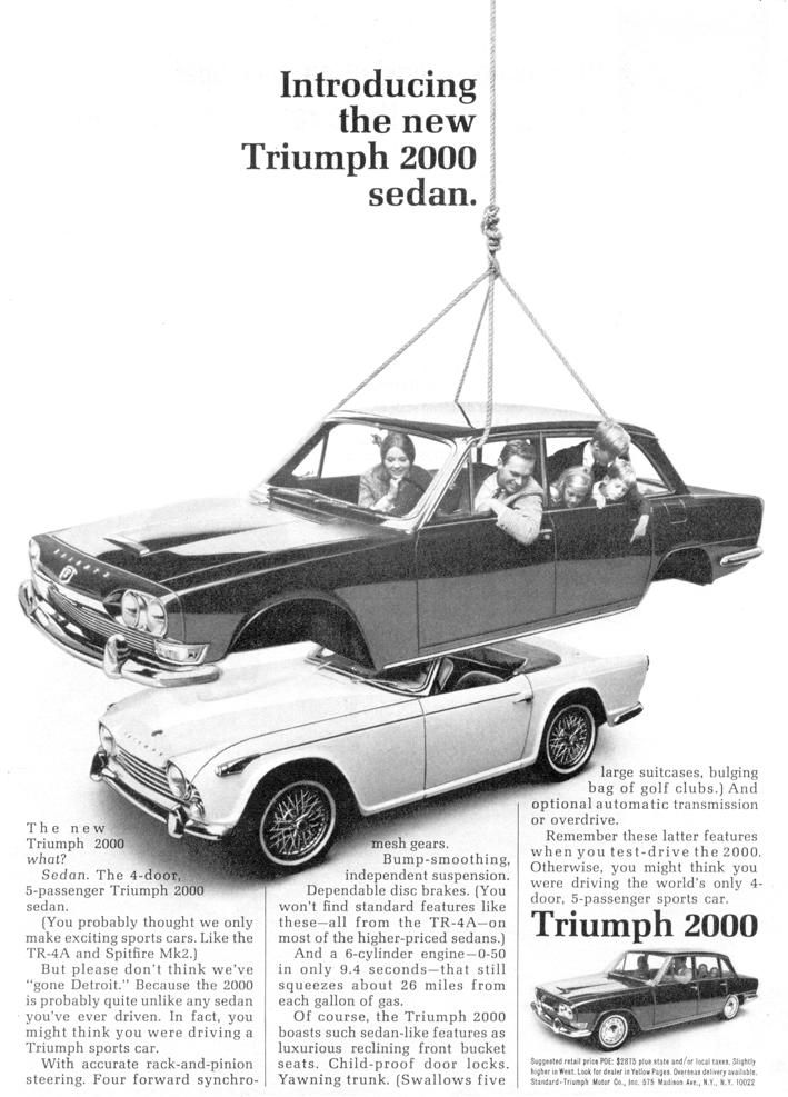 "Cool Stuff We Like Here @ CoolPile.com ------- << Original Comment >> ------- Triumph 2000 ""Introducing the new Triumph 2000 sedan"""