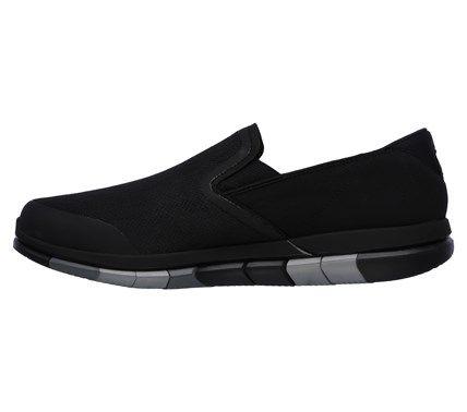 Skechers Men's Goflex Walk Slip On Sneakers (Black/Gray)