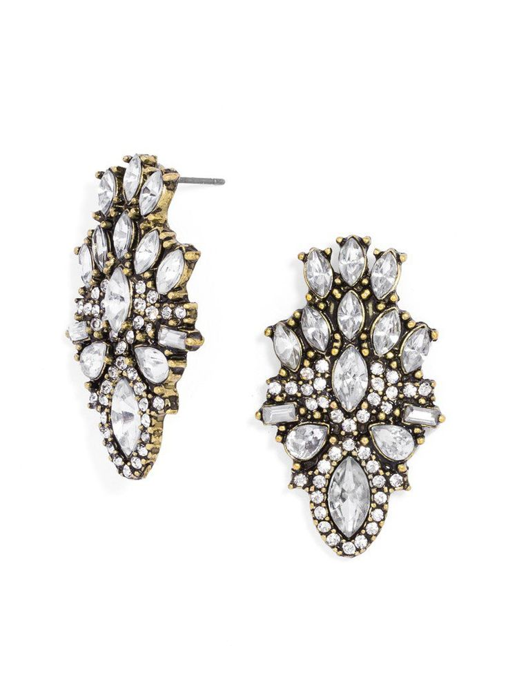 Statement studs are the perfect last-minute add-on, so try these stunning crystal studs on for size and be prepared to start turning heads.