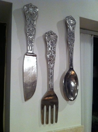 Large Knife Fork And Spoon Wall Decor : Pin by erin shedd on for the home