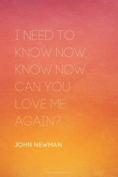 love me again -- john newman, tribute