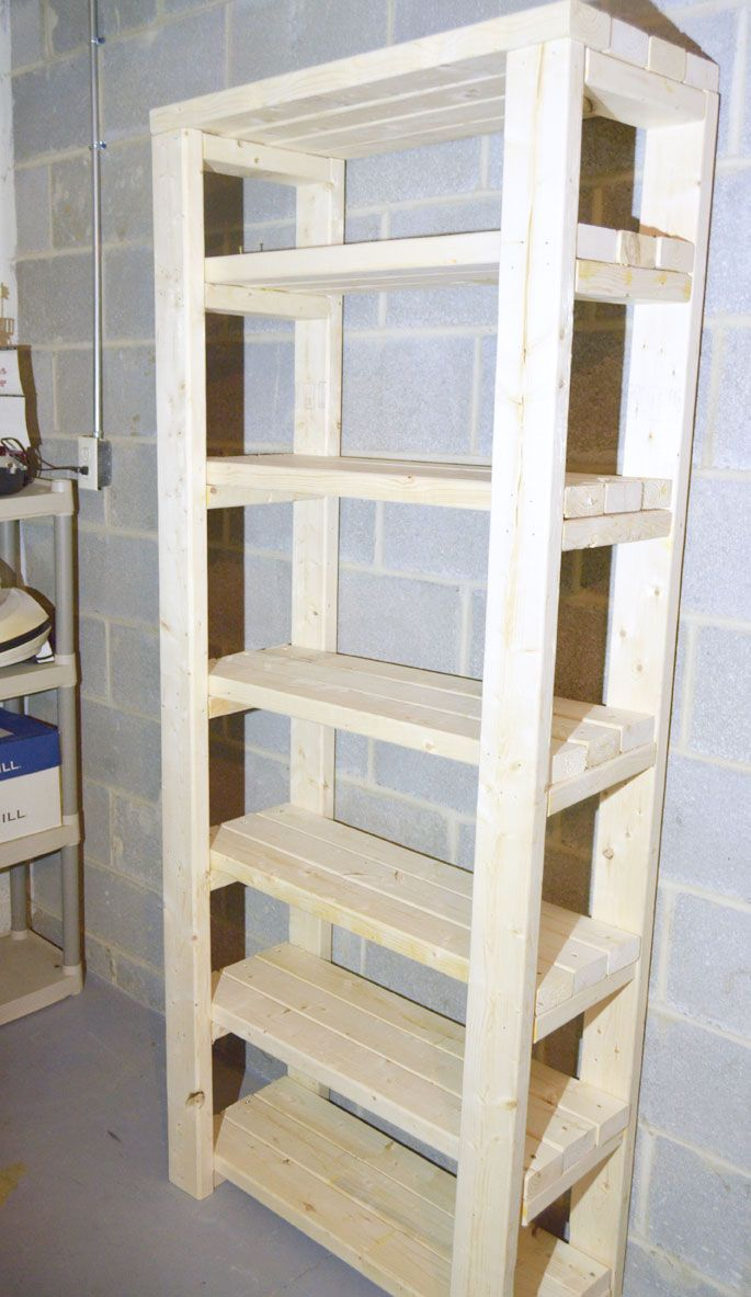 Paint Storage Shelf Made With 2x4s - Create and Babble
