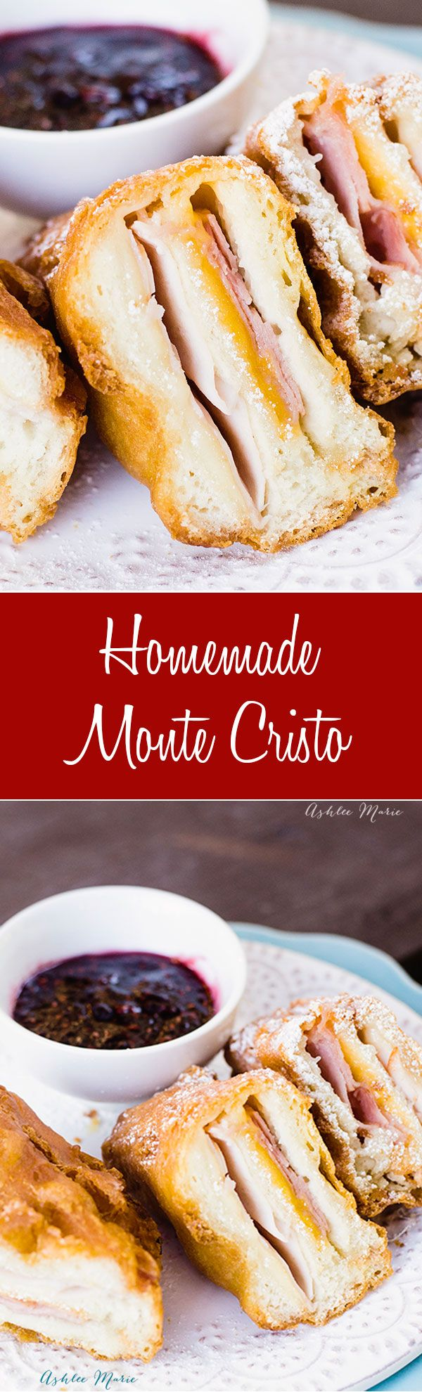 making your own deep fried monte cristo sandwich is super easy and always delicious, just like you can get at disneyland