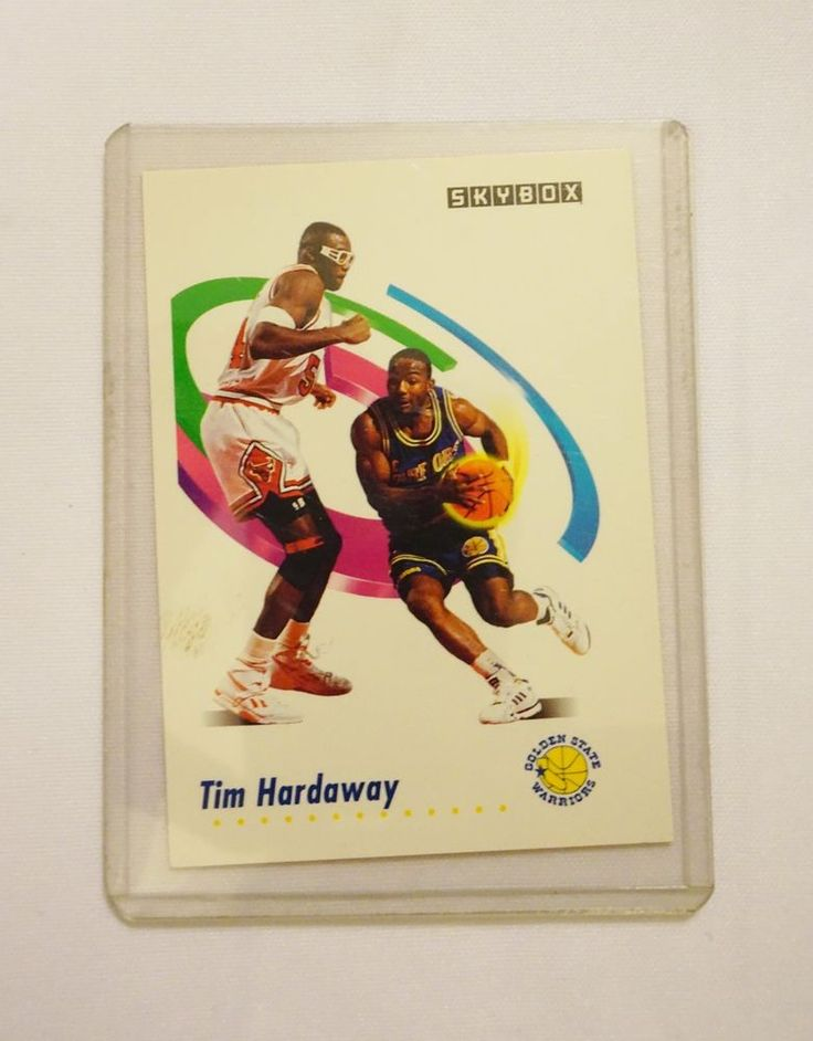 Golden State Warriors, 1991 SkyBox NBA Basketball Card  #90 Tim Hardaway #GoldenStateWarriors