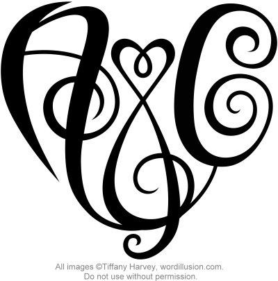 heart initial tattos design of the initials a c created in heart shape for tattoo tattoo. Black Bedroom Furniture Sets. Home Design Ideas
