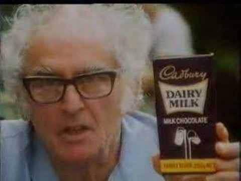 "Dr. Julius Sumner Miller in a Cadbury's ad.(Remember his catch cry & tv show for kids was ""Why is it so?""). I'm glad that he wasn't my science teacher! hahaha"