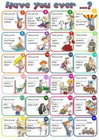Have you ever ... present perfect - B1