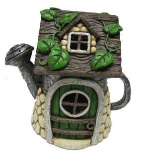 Fairy Garden Resin Watering Can House