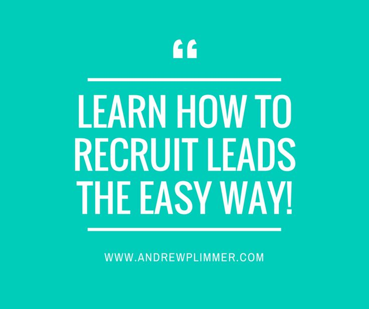 I struggled to recruit leads into my network marketing businessfor a long time until I learnt how to attract and recruit new leads using attraction marketing online, without having to pick up the phone to prospect and recruit leads the old fashio...