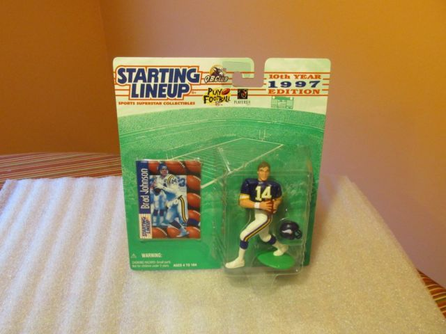 Starting Lineup 1997 Brad Johnson Minnesota Vikings rookie piece (mint)