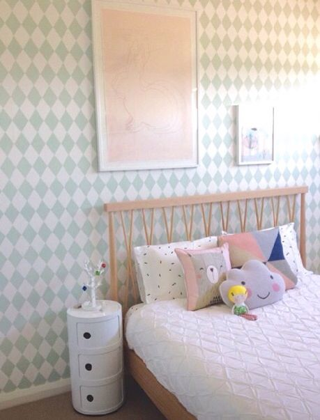 A beautiful bedroom styled by milkainteriors featuring a mocka post box 3 milka girls room