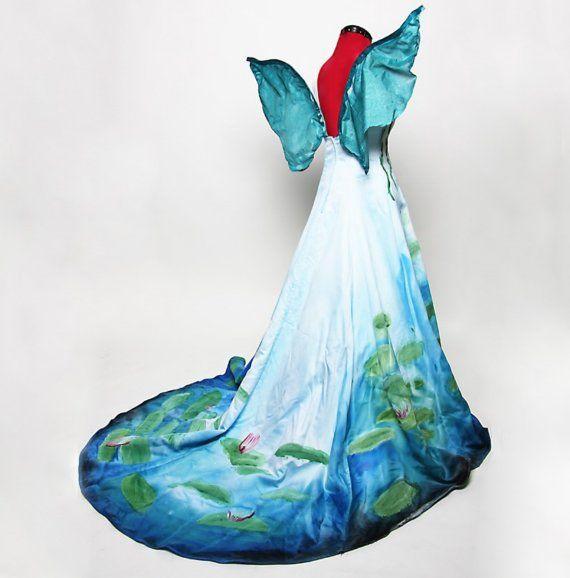 Fairy dressCostumes Dresses, Fairy Costumes, Inspiration Waterlily, Fairies Halloween Costumes, Fairies Dresses, Costumes Halloween, Waterlily Fairies, Monet Inspiration, Fairies Costumes