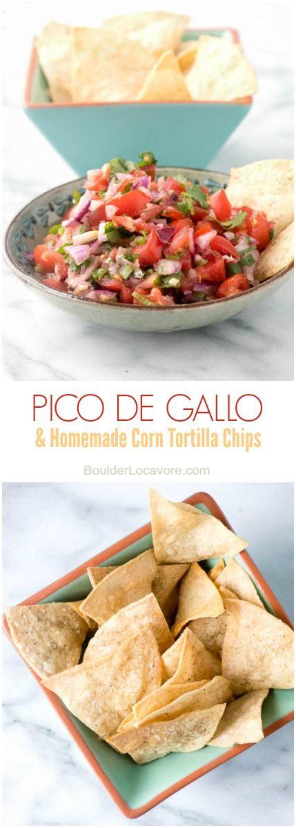 Homemade Corn Tortilla Chips and Pico de Gallo | Boulder Locavore