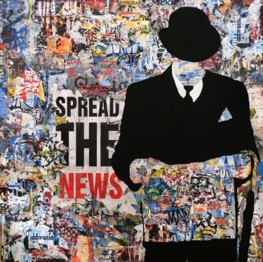"Saatchi Art Artist Tehos Frederic CAMILLERI; Painting, ""Spread the news - Tehos"" #art"