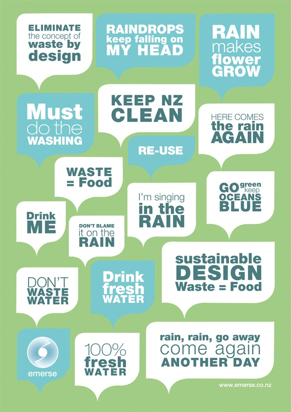 life cycle of water - promoting re-use philosophy