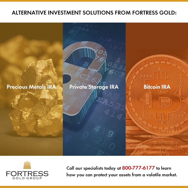 Diversify your IRA with Fortress Gold's many alternative investment solutions! Call our specialists today at 800-777-6177 to learn how you can protect your assets from a volatile market!
