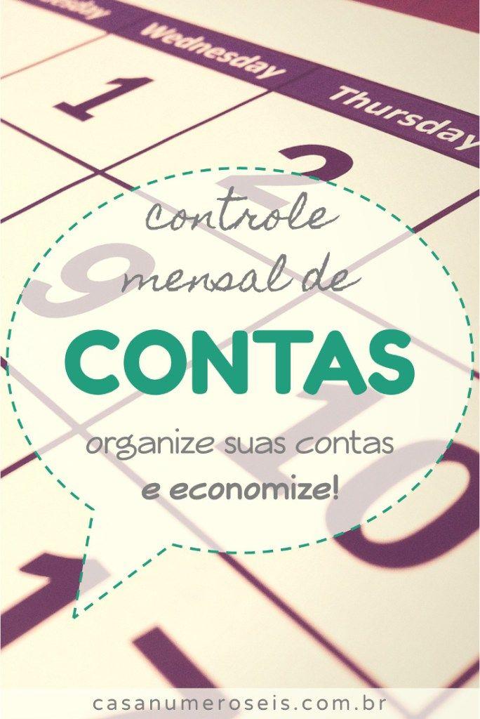 Controle Mensal de Contas - Casa Número Seis