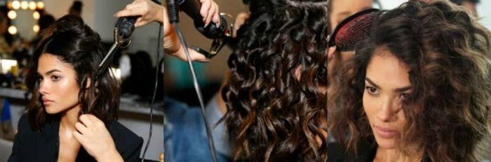 como conseguir ondas surferas en el pelo, pasos para rizar el pelo con una plancha, media melena castaña con balayage