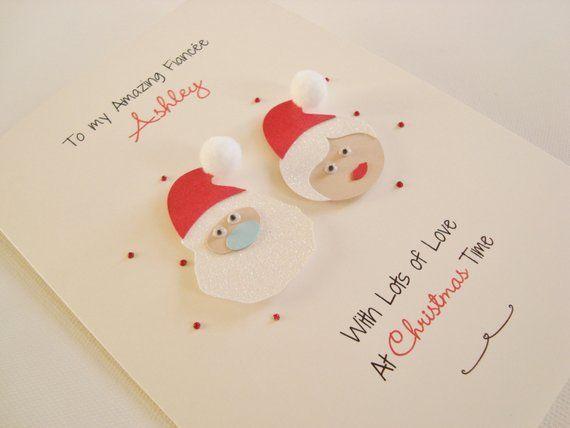 Handmade Personalised Christmas Card Niece-daughter-granddaughter-daughter-cousin-goddaughter-any wording