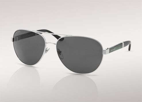 fad98df8ea8de Linear Tubogas aviator sunglasses with two-tone green and black temples.  Silver frame,