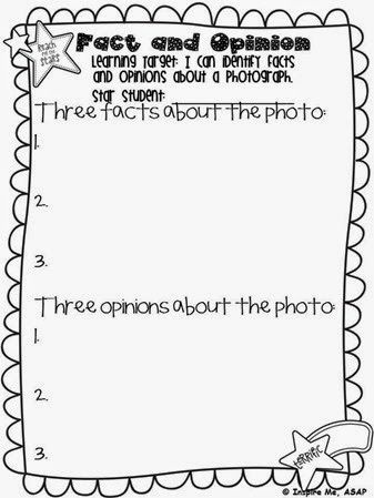Show students an engaging photo and they write facts and opinions about the photo on this FREEBIE template :) Photos - Inspire Me ASAP