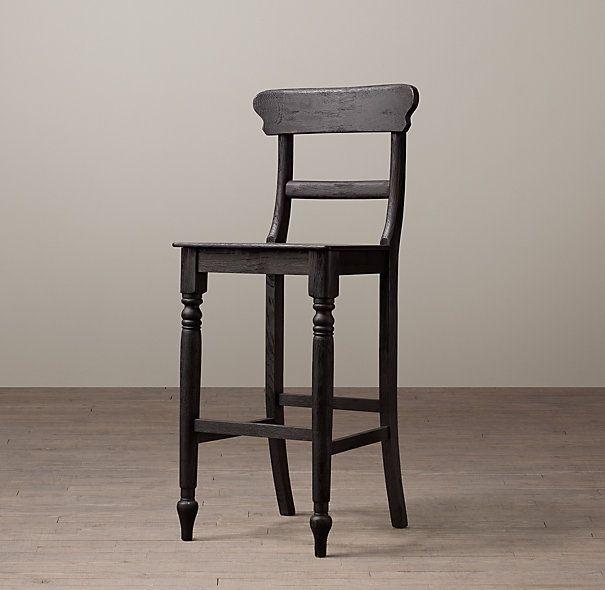 19th c english schoolhouse stool