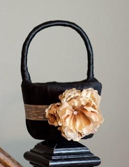 flower girl basket: Flower Girls Baskets, Black Baskets, Green Ribbons, Flower Girl Basket, Girls Generation, Homemade Flower, Google Search, My Wedding, Frugal Brides