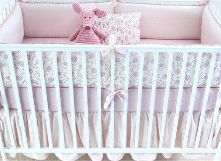 Lilac Arpege Crib Bedding - 3 Piece set