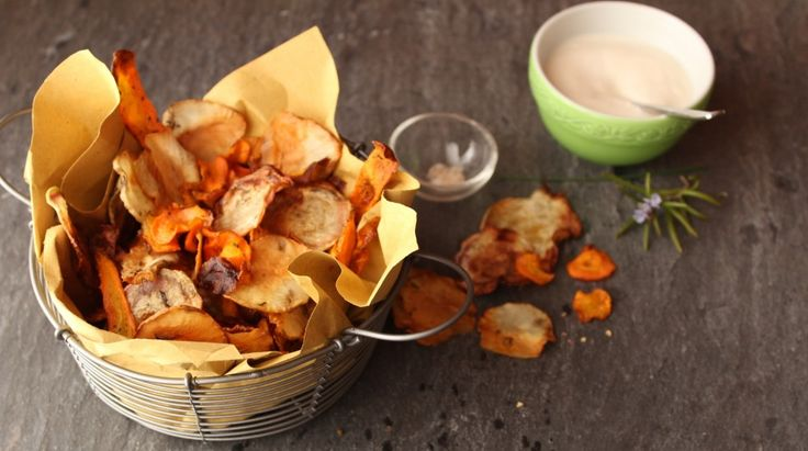 Chips di verdure al forno ricetta