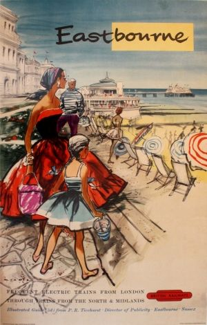 Eastbourne British Railways, 1950s - original vintage poster listed on AntikBar.co.uk