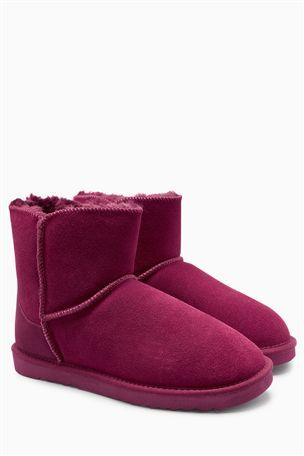 Buy Chestnut Suede Slipper Boots from the Next UK online shop