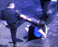 This cop kicked a handcuffed women in the head for no good reason. Don't you think he deserves more than a slap on the wrists? Watch the video to decide...