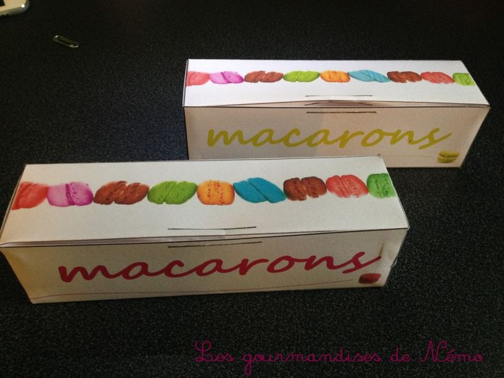 boites macarons à fabriquer soi même, gabarit boite macarons