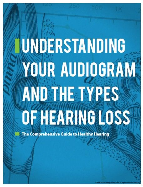 Free Healthy Hearing Guide explains what to expect during an audiogram and the different types of hearing loss.