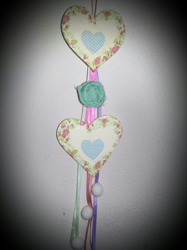 """""""Two hearts are beating together """" decoupage"""