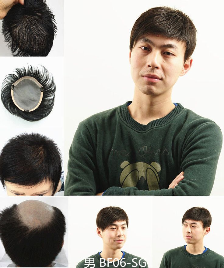 """100% Human Hair Silk Top Hair Replacement Systems Unit Men Toupee Hairpiece 6"""""""