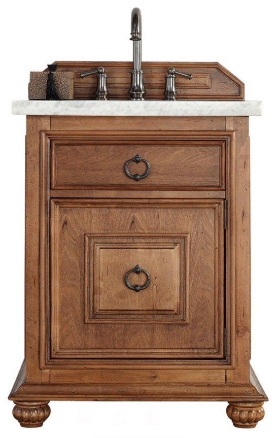 Gallery For Photographers  inch Single Sink Bathroom Vanity Cinnamon Finish Optional Countertop