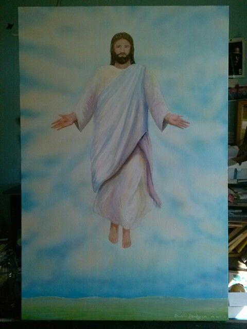 Accention of Christ , acyrlic on canvas , thank you God