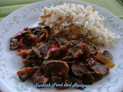 Mushroom Saute (Mantar Sote) from Turkish Food & Recipes