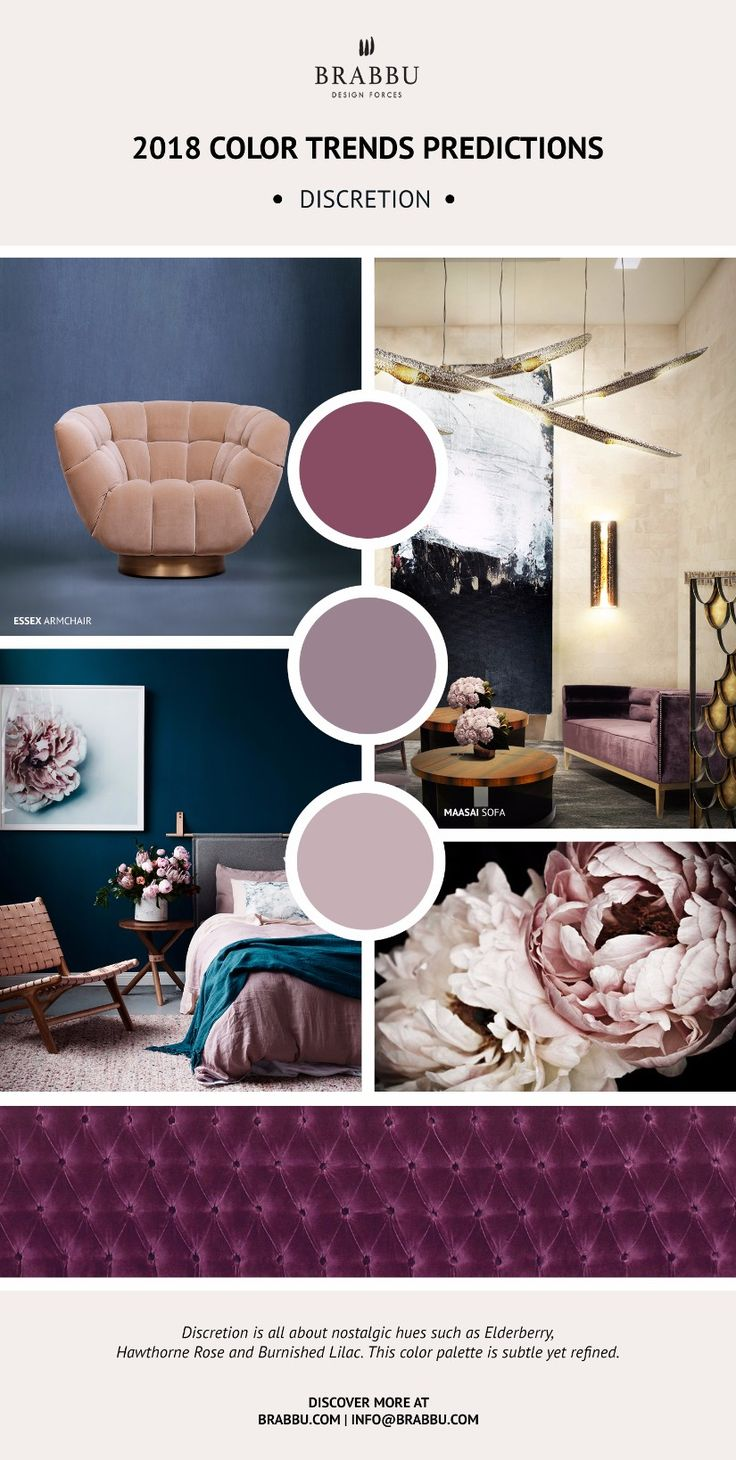 Trend Alert! Here Are The 2018 Color Trends Predictions // Home Decor. Interior Design. #colors #colortrends #pantone Read more: https://www.brabbu.com/en/inspiration-and-ideas/materials/trend-alert-2018-color-trends-predictions