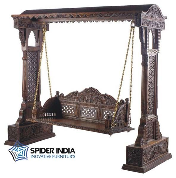 wooden fine carved swing