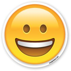 Grinning Face | Emoji Stickers