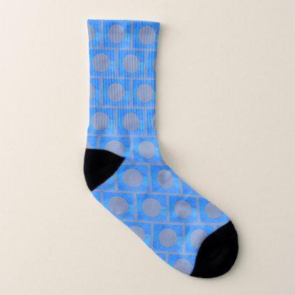 Blue Polka Dots 4Bernard Socks - blue gifts style giftidea diy cyo