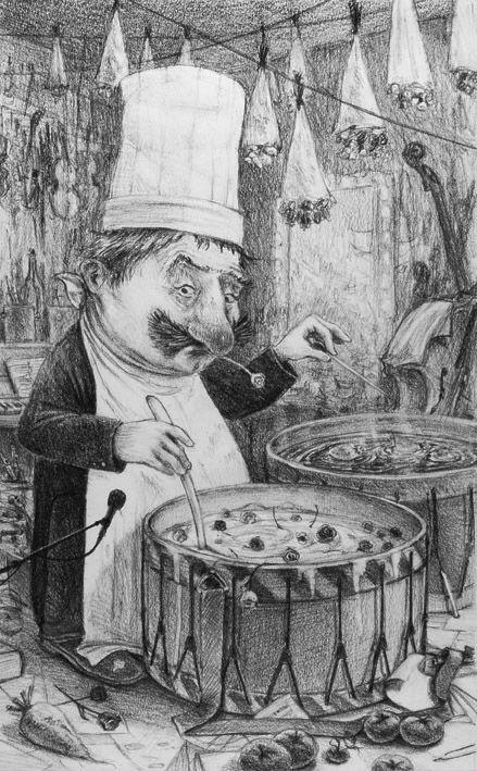 """Pierre Créac'h illustration for """"Le Silence de L'Opera""""."""