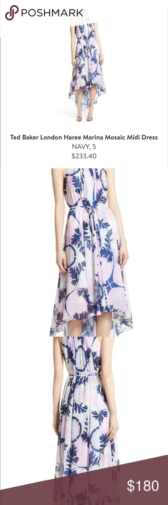 Ted Baker London Haree Marina Mosaic Dress Ted Baker London Haree Marina Mosaic Midi Dress NAVY, 5 Worn once!!! Ted Baker London Dresses