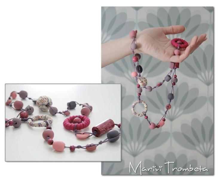 Necklaces tottaly handmade. $13,00, via Etsy.