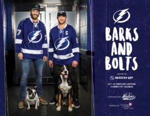 Tampa Bay Lightning 2018 Barks and Bolts Calendar Helps Dogs in Need  The Tampa Bay Lightning may have won the Stanley Cup during the 2003- 2004 NHL season, but the current roster of players on the professional ice hockey team have won the admiration of animal lovers for offering an assist to dogs and cats so they can achieve their goal– finding a forever family to love. […] #Florida #TampaBayLightning #CelebrityDogNews #News #TheHumaneSocietyOfTampaBay