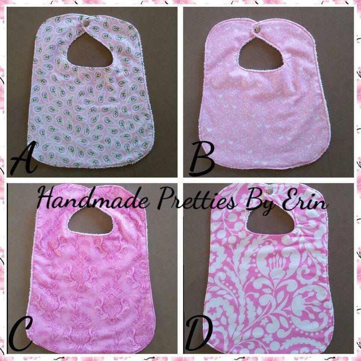 Handmade by Handmade Pretties By Erin Pink Bibs