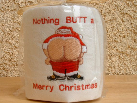 Festive, embroidered toilet paper: | 13 Novelty Toilet Paper Rolls You Can (Should, Really)Own