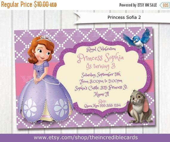50% OFF SALE Princess Sofia Birthday Invitation / Princess Sofia Party / Princess Sofia Printable Invitation / Princess Sofia / Disney Sofia